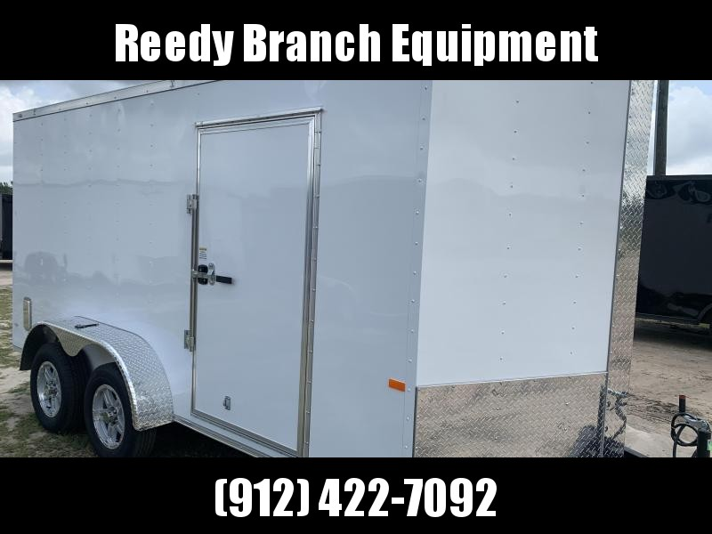 New 7x14 Enclosed Cargo Trailer with Upgrades