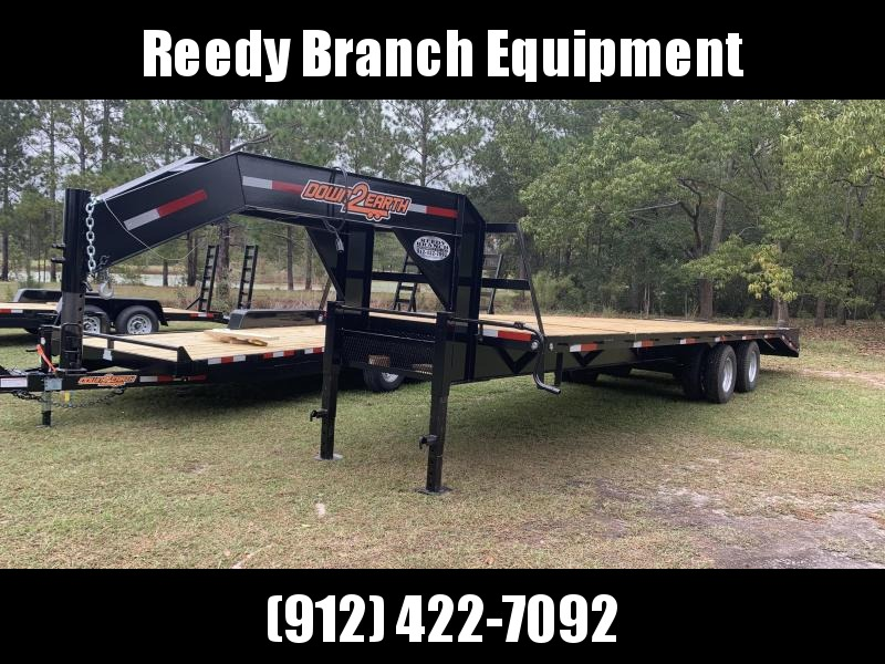2020 8'x30' 10 Ton Gooseneck Down to Earth Equipment Trailer