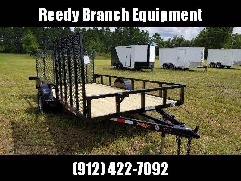 """ON SALE! New (2019) 82""""x14' w/ Side Gate Down to Earth Utility Trailer"""