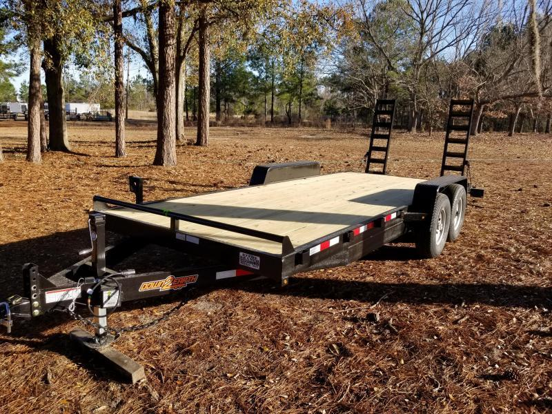 New 7x16 (4' sides) Down to Earth Dump Trailer