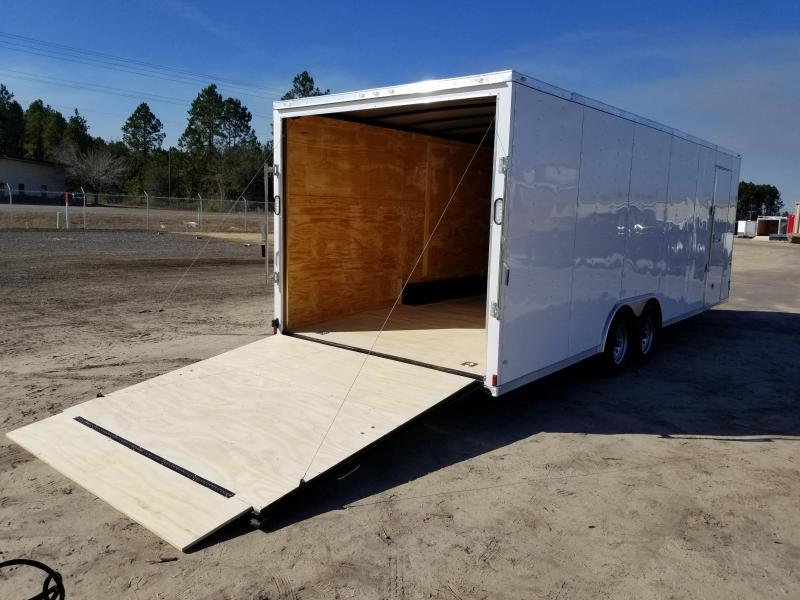 New 8.5x24 5200lb Enclosed Car Hauler Rock Solid Cargo