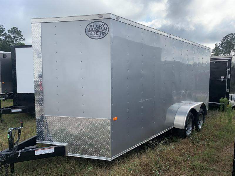 New 7x16 Silver Frost Enclosed Cargo Trailer 7000GVWR