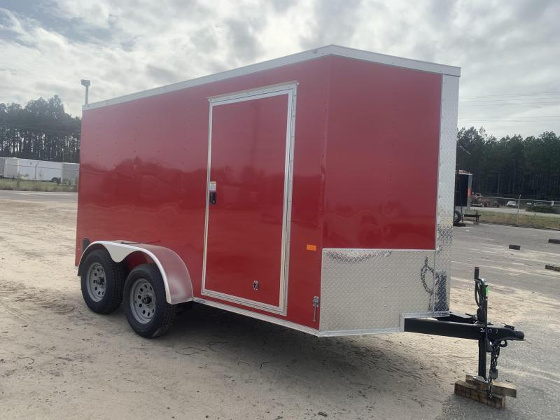 New Red 6x12 TA Rock Solid Cargo Enclosed Trailer (Douglas GA)