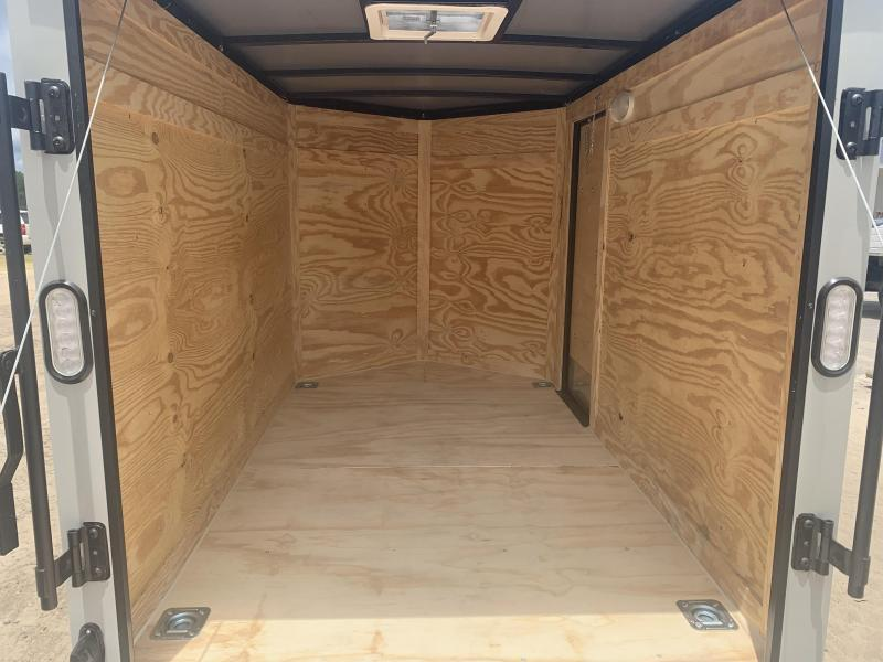 New 5x8-Dove Gray Blackout Enclosed Trailer