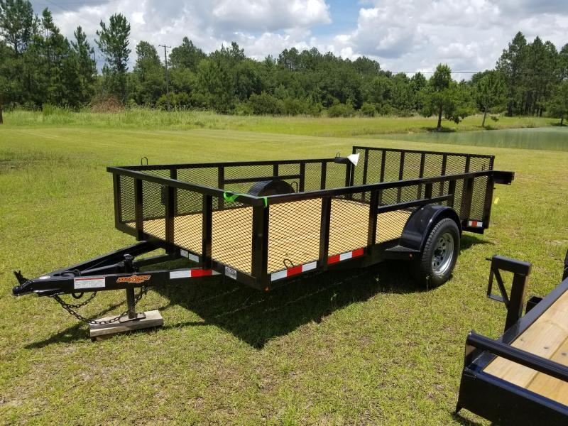 """2019 Down 2 Earth Trailers DTE8212G29(24""""MESH SIDES) DOVETAIL Utility Trailer"""