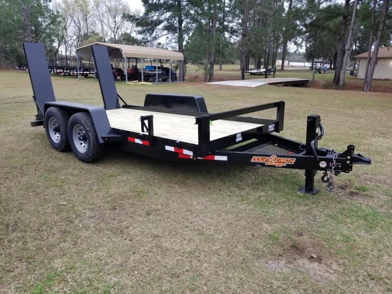 "New 78""x14' Down to Earth Commercial Equipment Trailer 14K GVWR"