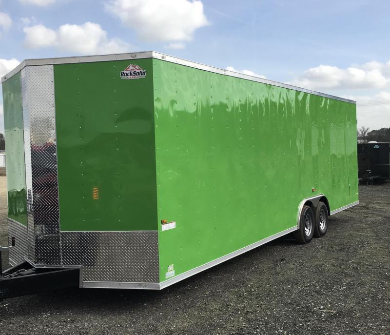 New 8.5x28-5200lb Electric Green Rock Solid Cargo Custom Build