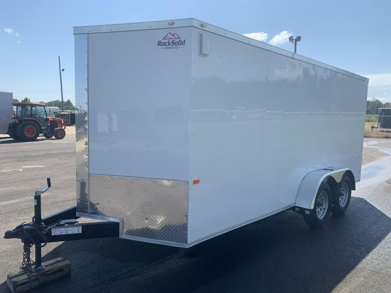 New 7x16 Enclosed Cargo Trailer (White or Black in Stock)