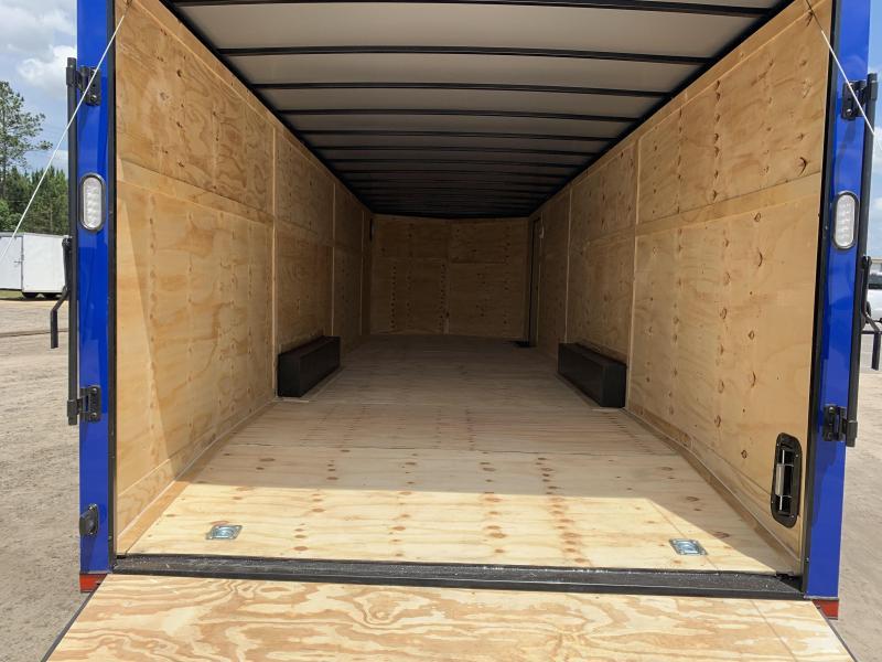 New 8.5x28-Electric Blue Blackout 14K-GVWR Enclosed Cargo Trailer $7399