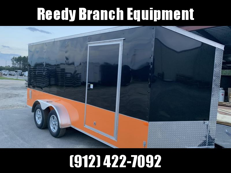 New 7x16 Enclosed Motorcycle Trailer (Many Upgrades)