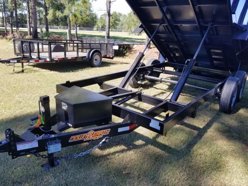 New 7x14 (4' sides) Down to Earth Dump Trailer