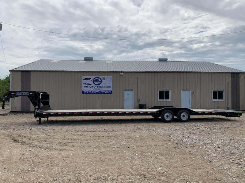"2020 Load Trail  102"" x 40' Tandem Axle 10"" I-Beam Frame Gooseneck Equipment Hauler"