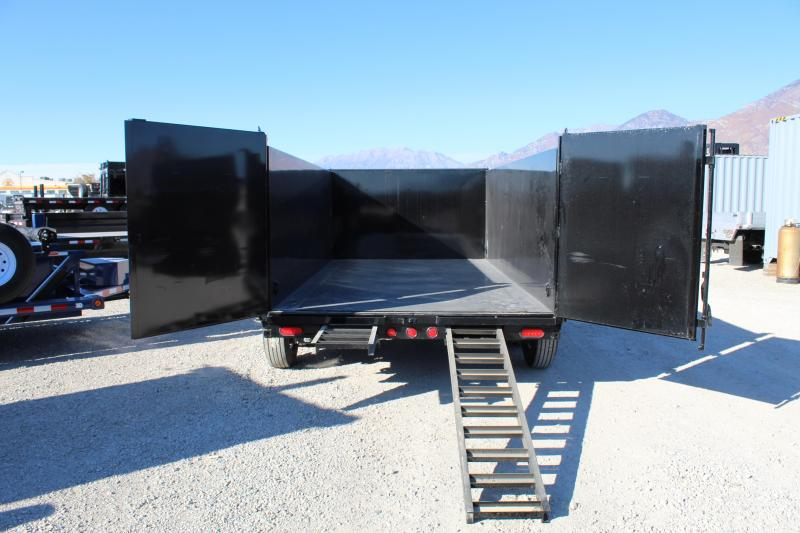 PJ Trailers 7x14 Low-Pro High Side (DM) Dump Trailer w/ 4' High Sides