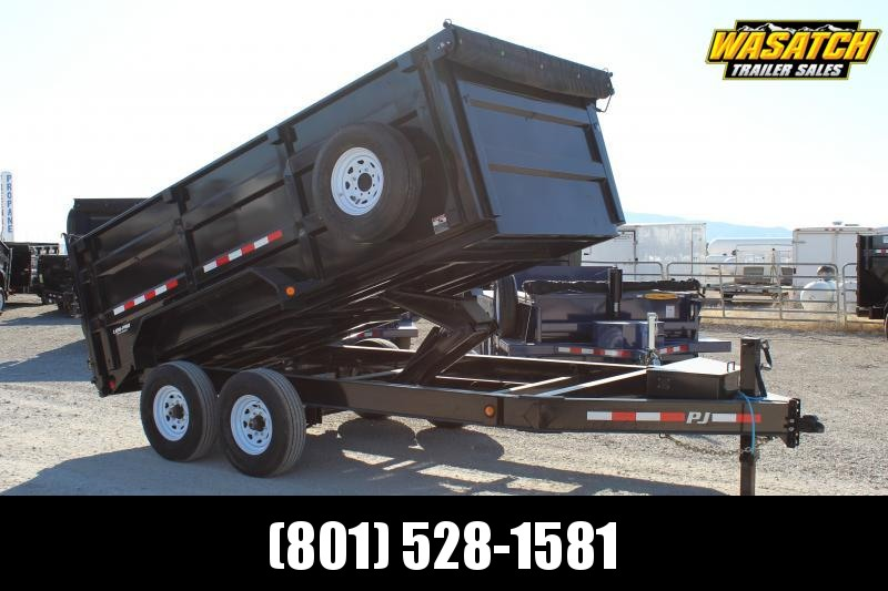 PJ Trailers 7x14 Low-Pro High Side (DM) Dump Trailer w/ 4' High Sides