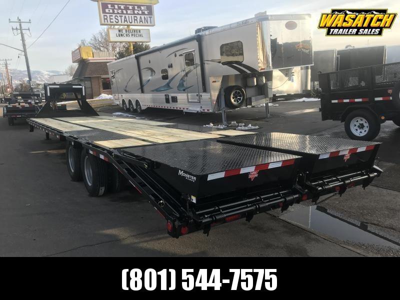2019 PJ Trailers 32ft - Gooseneck Low-Pro Flatdeck with Duals (LD) Flatbed Trailer