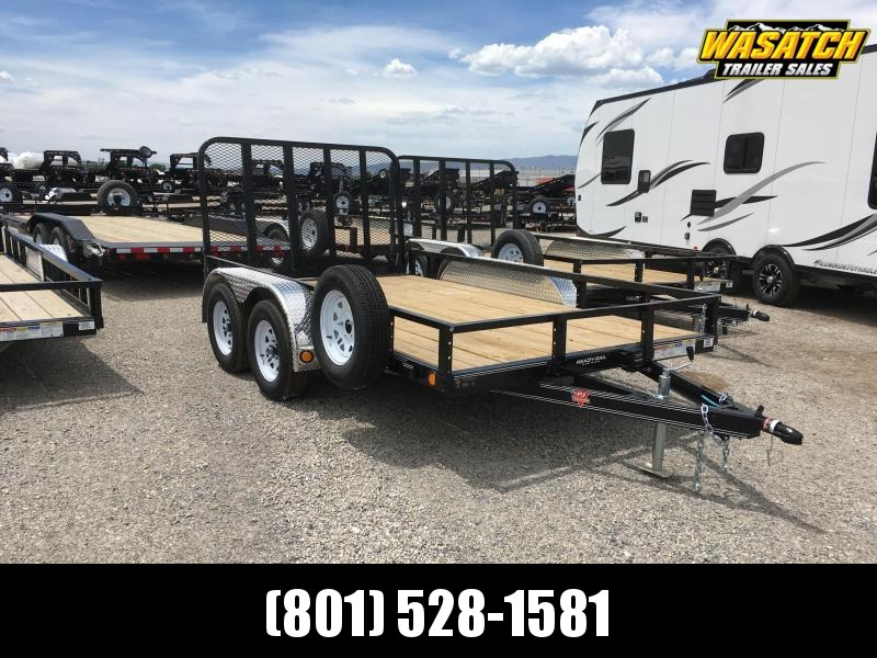 PJ Trailers 7x12 Tandem Axle Channel (UL) Utility Trailer