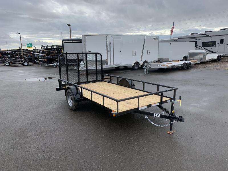 "2020 PJ Trailers 12ft - 77"" Angle Utility (E7) Utility Trailer"