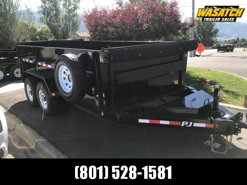PJ Trailers 7x14 Low Pro High Side (DM) Dump Trailer w 3' High Sides