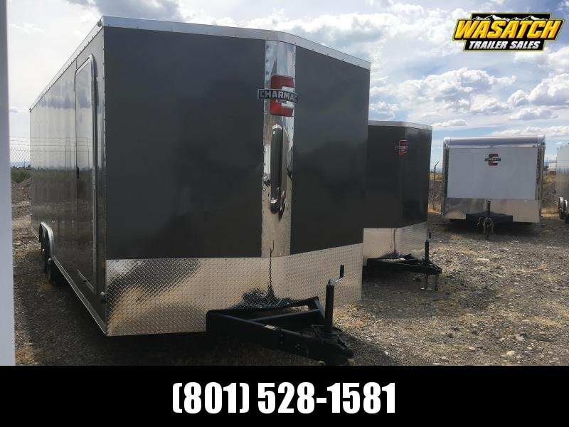 Charmac 100x24 Stealth Enclosed Steal Cargo w/ V-Nose