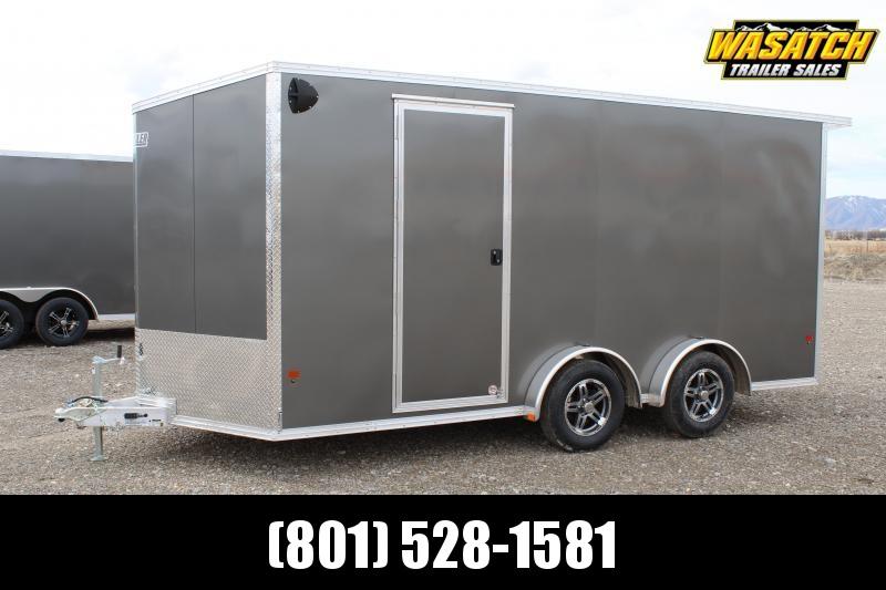 Alcom 7.5x16 EzHauler Aluminum Enclosed Cargo Trailer w/ UTV Package