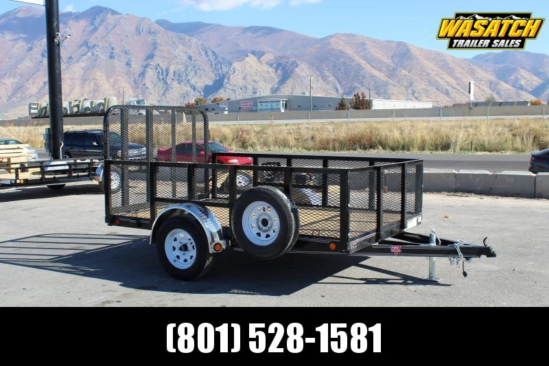 "PJ Trailers 6.5x10 Single Axle Channel (U7) Utility w/ 24"" Expanded Metal Sides"
