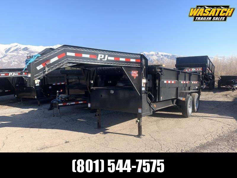 PJ 7x16 ft Heavy Duty Low-Pro Dump Trailer