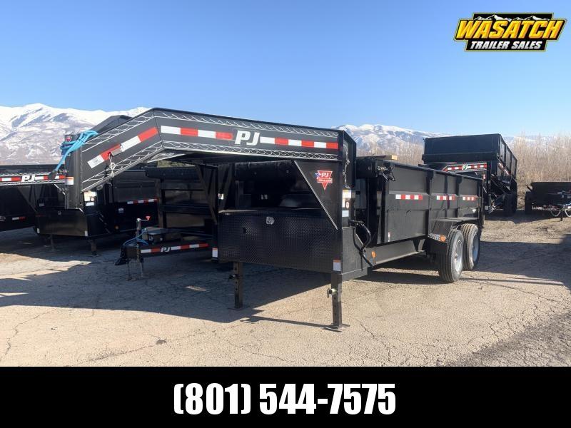 PJ 7x16 ft Heavy Duty Low-Pro Dump Trailer