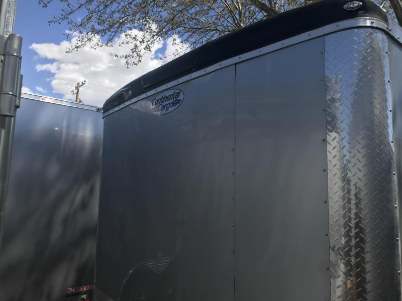 Continental Cargo 8x20 Silver & Charcoal Tailwind Cargo with Ramp