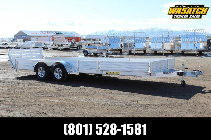 Aluma 81x22 Aluminum Utility Trailer w/ ATV Side Ramps