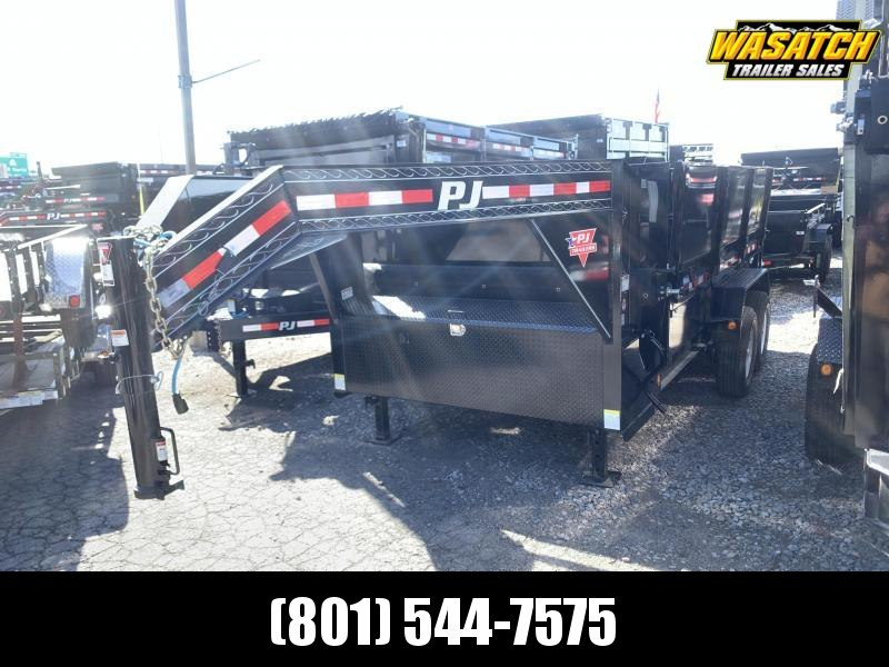 PJ 7x14 Gooseneck Low Pro (DL) Dump Trailer