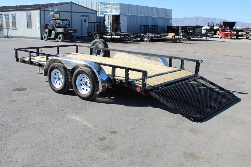 PJ Trailers 7x14 Tandem Axle Channel (UL) Utility Trailer