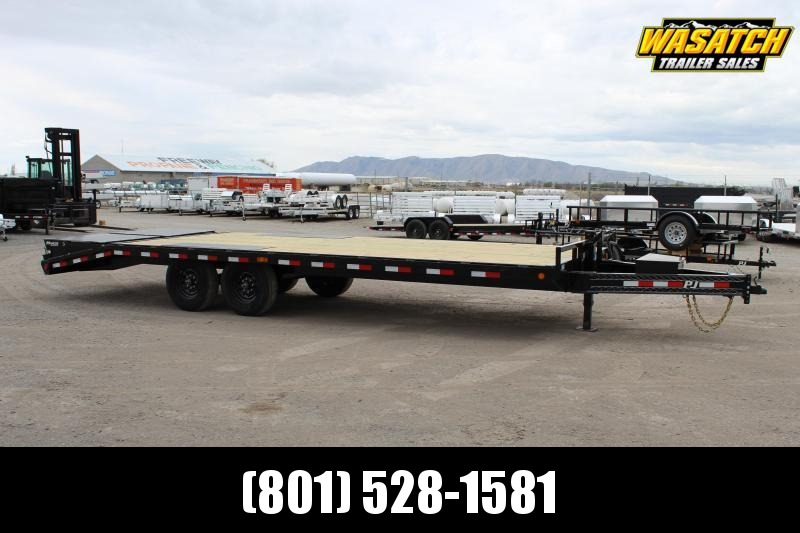 "PJ Trailers 8.5x24 8"" I-Beam Deckover (F8) Equipment Trailer"