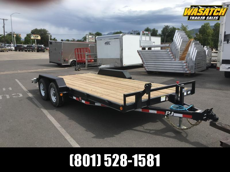 PJ Trailers 7x18 5 in. Channel (CE) Equipment Trailer