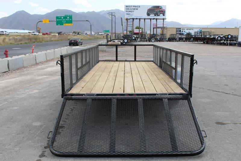PJ Trailers 83x20 Tandem Axle Channel (UL) Utility Trailer