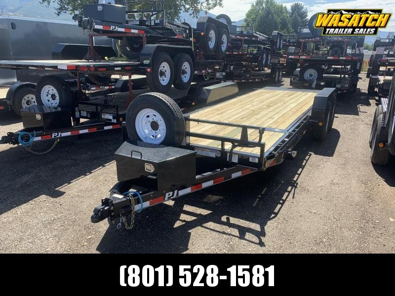 PJ Trailers 7x20 6 in. Channel Tilt (T6) Equipment Trailer