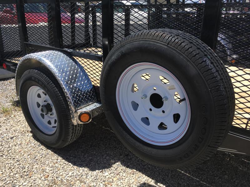 PJ Trailers 5x10 Single Axle Channel (U6) Utility w/ 2' Expanded Sides