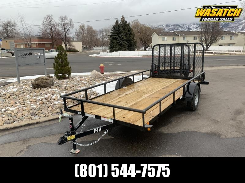 "2020 PJ Trailers 14 ft - 77"" Angle Utility Trailer"