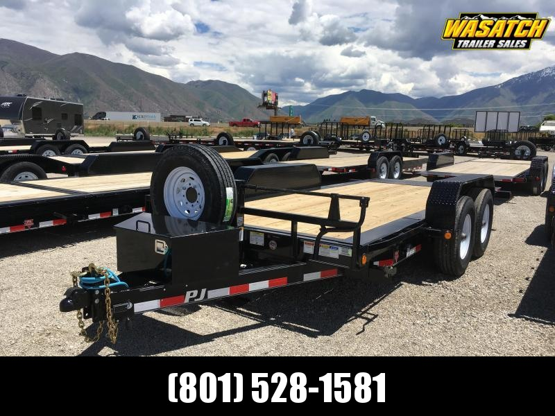 "PJ Trailers 7x16 HD Equipment Tilt 6"" Channel (TJ) Equipment Trailer"