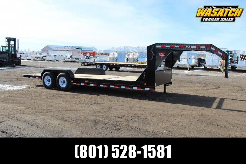 PJ Trailers 7x22 Channel Equipment Tilt (T6) Equipment Trailer