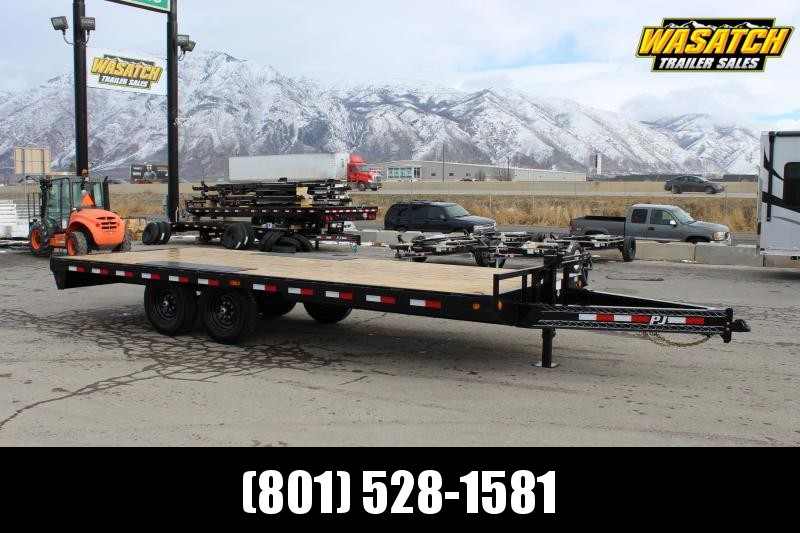 "PJ Trailers 8.5x20 8"" I-Beam Deckover (F8) Equipment Trailer"