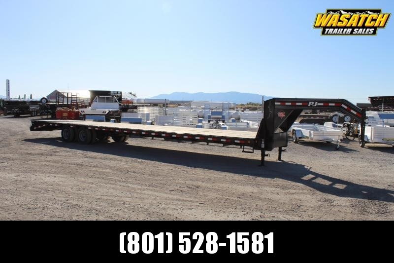 PJ Trailers 8.5x40 Low-Pro Flatdeck With Duals (LD) Flatbed Trailer w/ Hutch Suspension