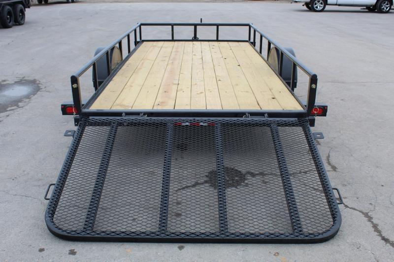 PJ Trailers 6.5x14 Single Axle Angle (E7) Utility Trailer