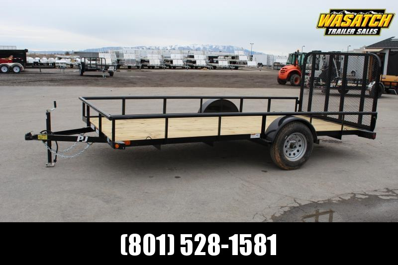 PJ Trailers 6.5x14 Single Axle Angle (E7) Utility Trailer