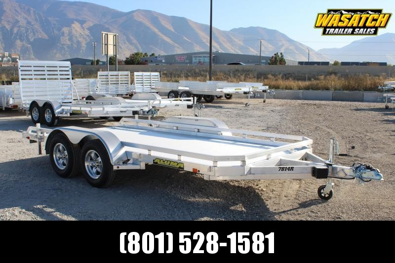 Aluma 6.5x14 Utility Trailer w/ Rear Slide Out Ramps