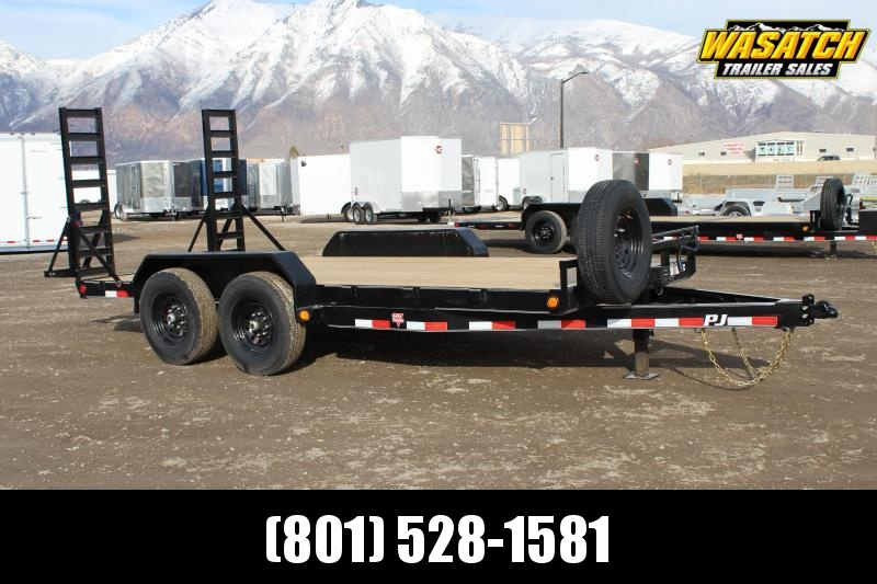 "PJ Trailers 7x16 6"" Channel (CC) Equipment Trailer"