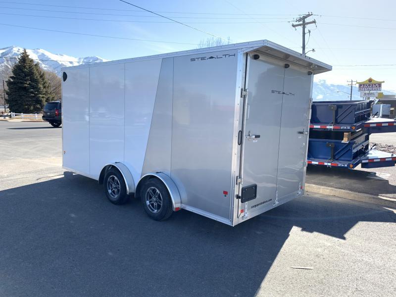 7.5x16 Aluminum Alcom-Stealth Cargo Trailer