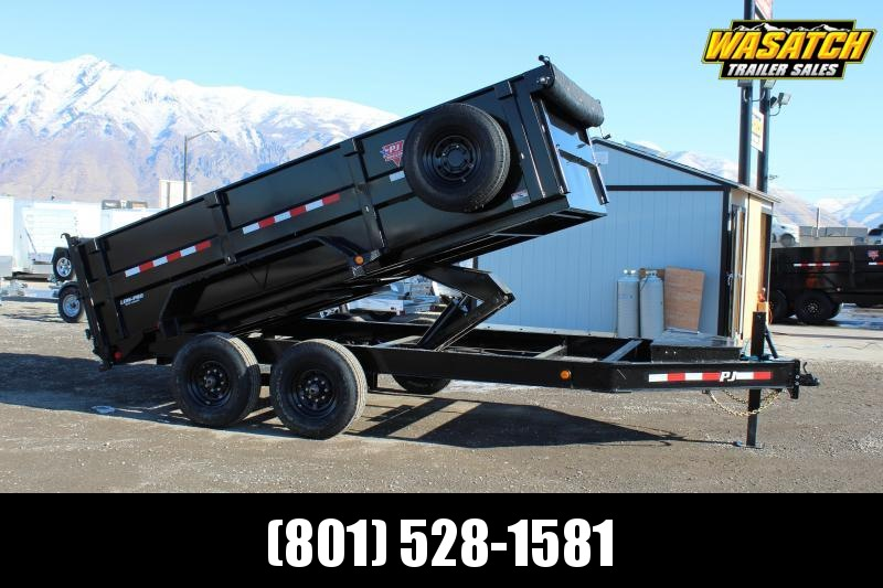 PJ Trailers 7x14 Low-Pro High Side (DM) Dump Trailer 3' High Sides