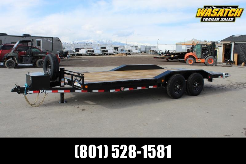 "PJ Trailers 8.5x22 6"" Channel Super-Wide (B6) Equipment Trailer"
