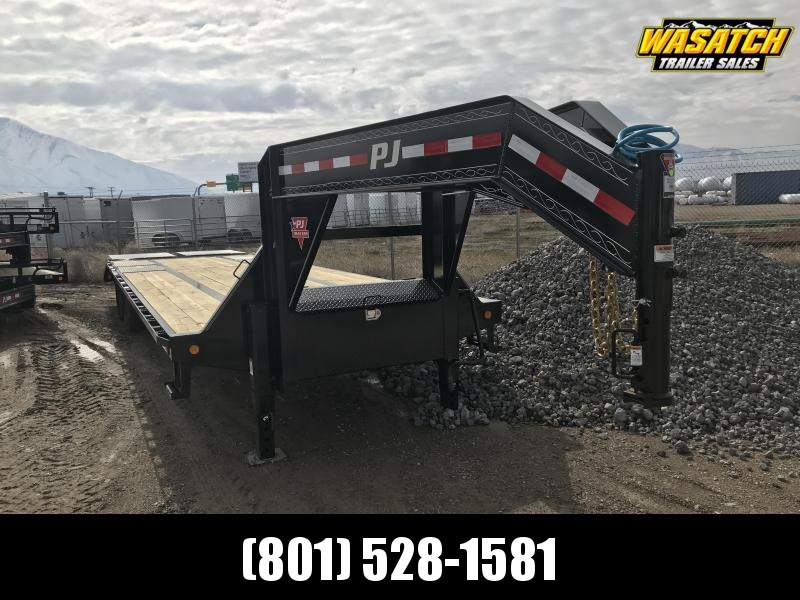 PJ Trailers 8.5x32 Low-Pro Flatdeck with Duals (LD) Flatbed Trailer w/ Hutch Suspension