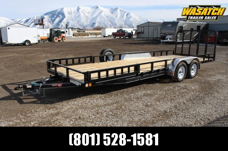 PJ Trailers 7x22 Tandem Axle Channel (UL) Utility Trailer